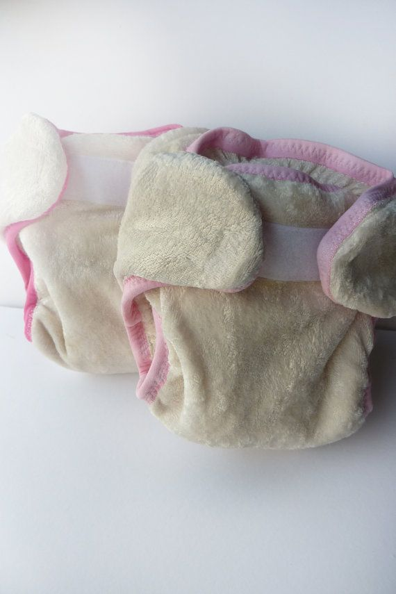 Organic Bamboo Velour Preemie or Newborn ECOBear Pocket Fitted Cloth Diaper -ROSE collection