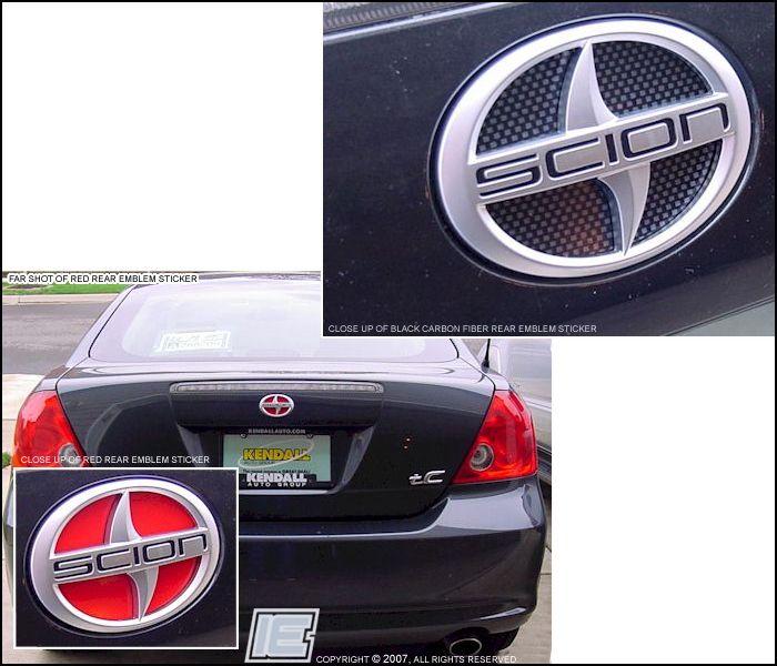 Rear Emblem Insert Sticker Scion Tc Mercedes Benz Logo Scion
