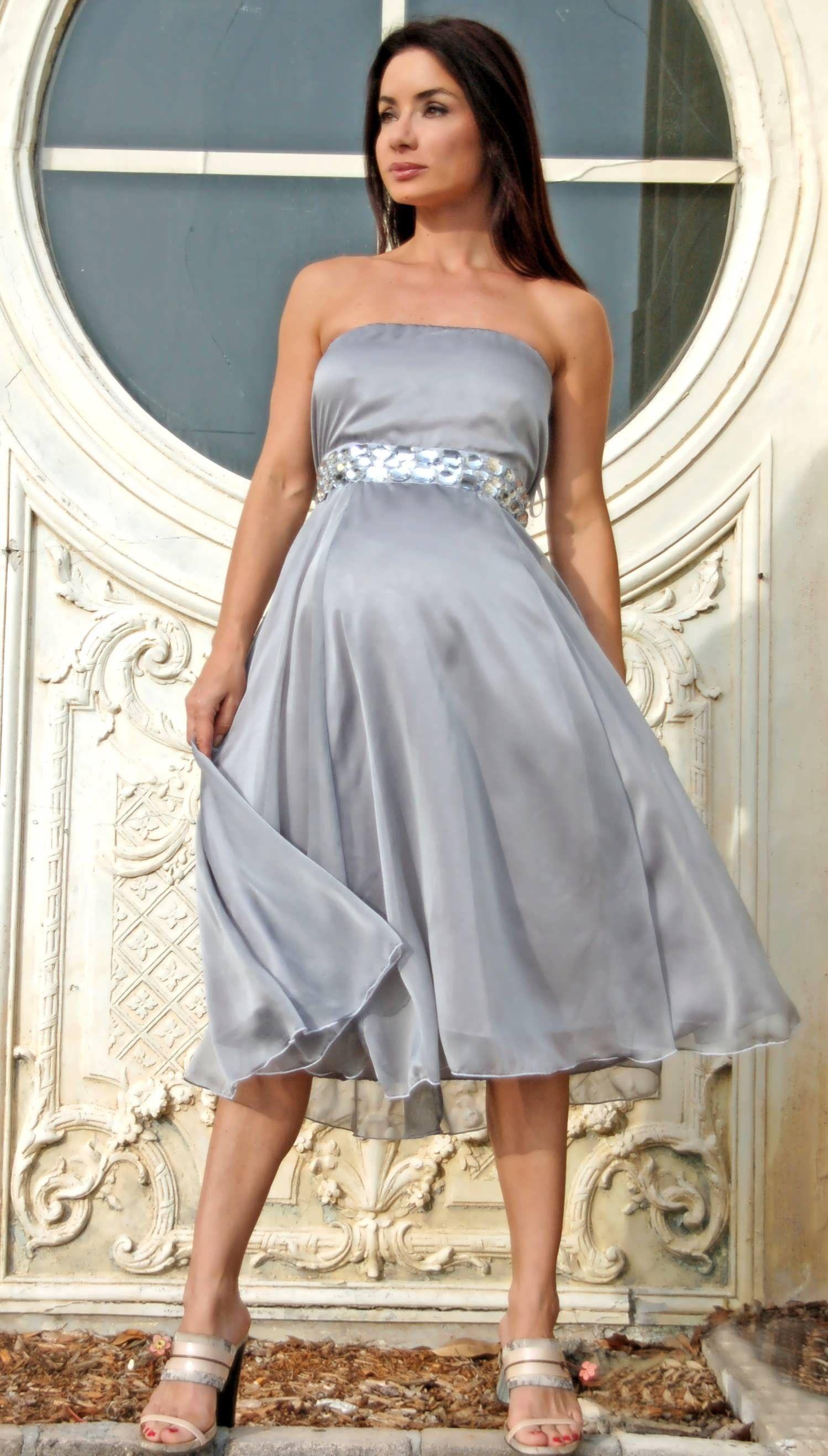 Platinum Diamond Audrey Maternity Gown Maternity Dress by