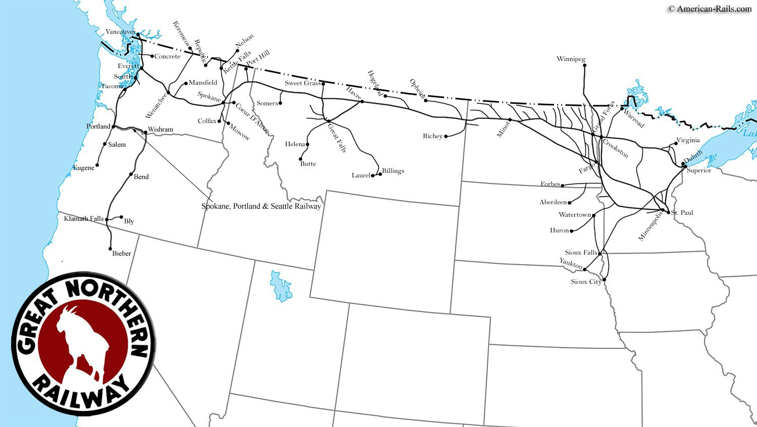 The Atchison Topeka And Santa Fe Railway Railroad Maps - Atchinson topeka and santa ferailroad on the us map