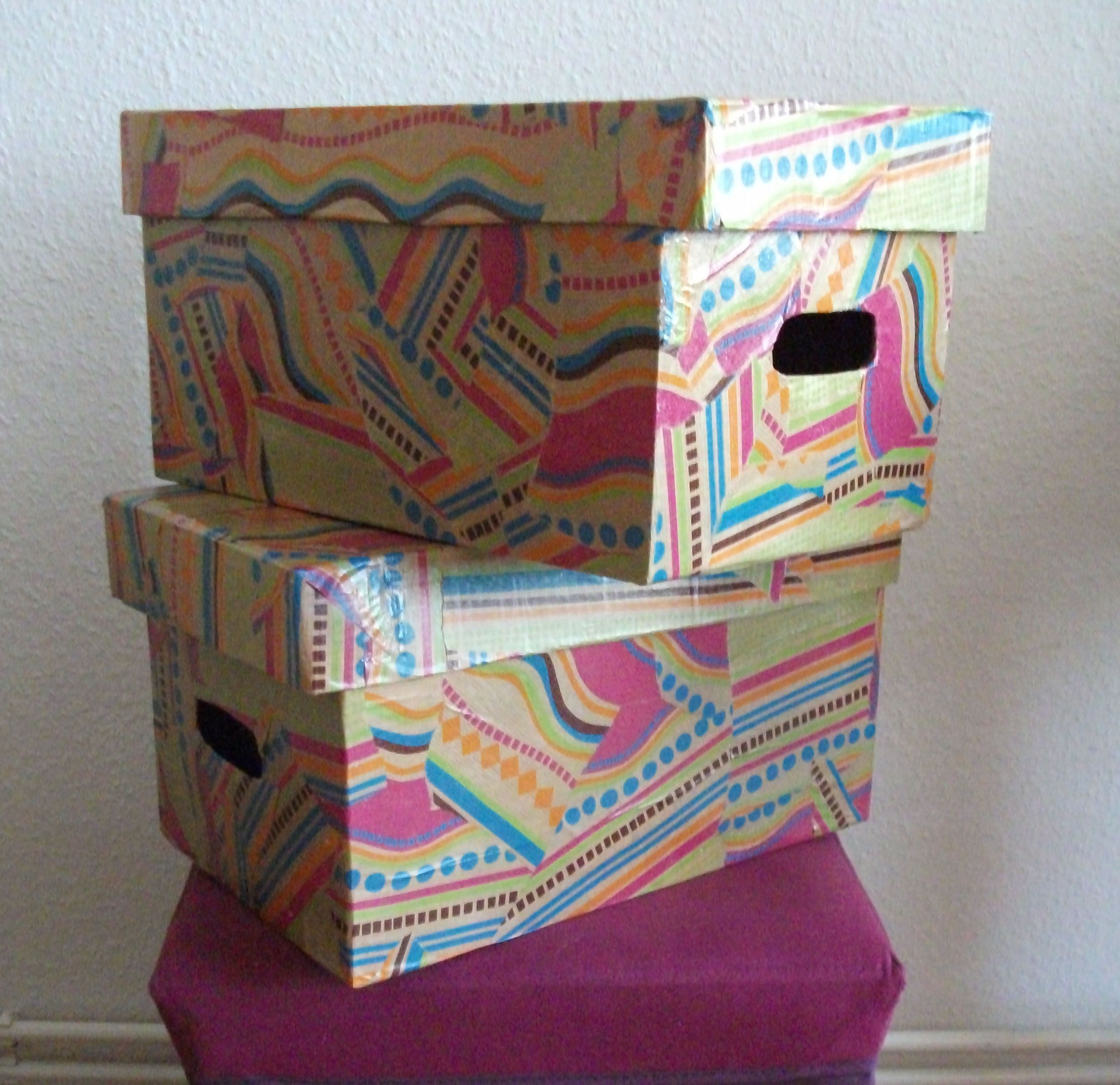Bulky Diaper Boxes To Funky Storage An Upcycling Tutorial By Sheri