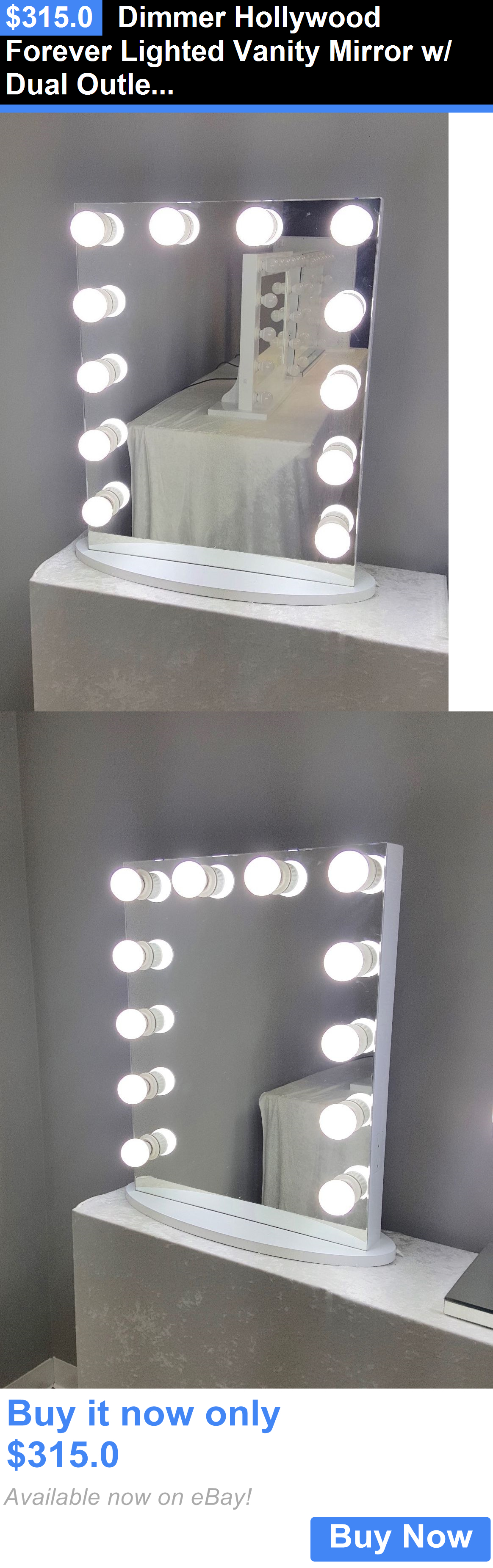 Makeup Mirrors  Dimmer Hollywood Forever Lighted Vanity Mirror W  Dual  Outlets And Led Bulbs. Makeup Mirrors  Dimmer Hollywood Forever Lighted Vanity Mirror W