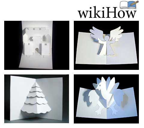 how to make a christmas pop up card wikihow