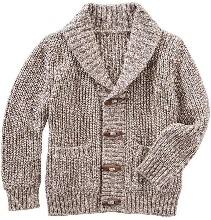 7dad462a5 Boys 4-10 OshKosh B'gosh® Toggle Button Knit Shawl Collar Cardigan ...
