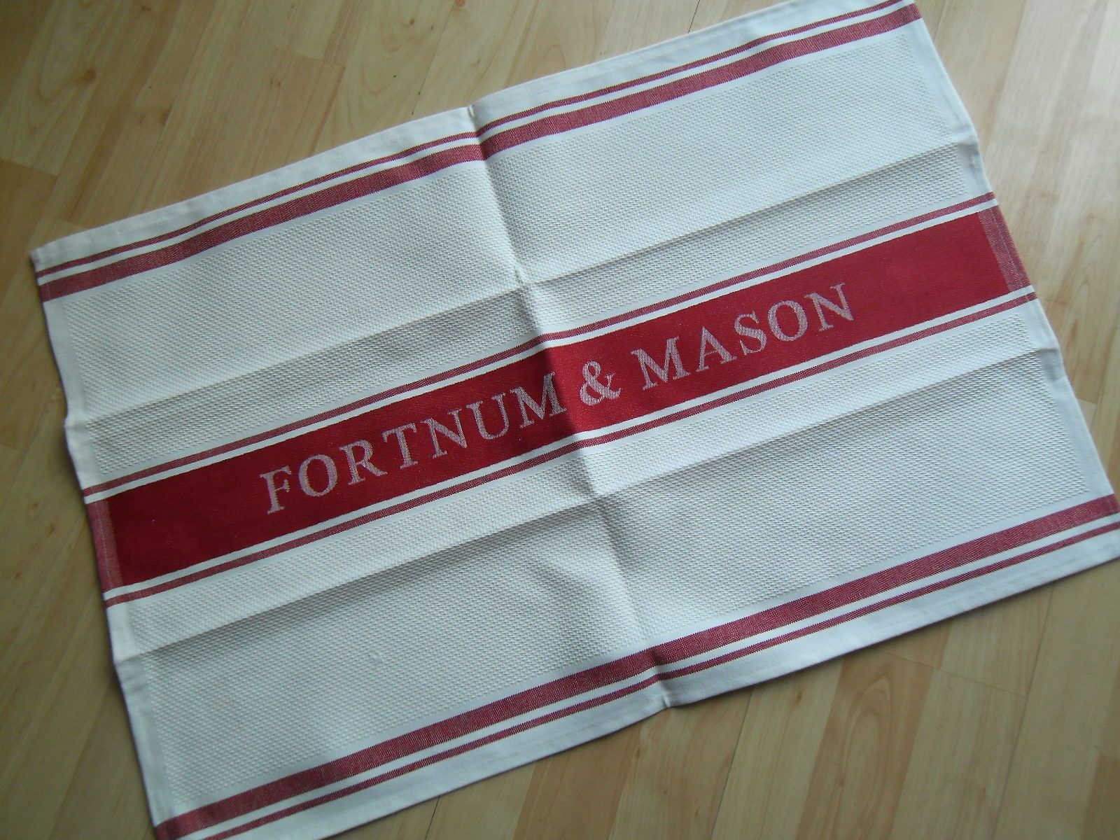 fabulous brand new fortnum mason london waffle weave tea towel