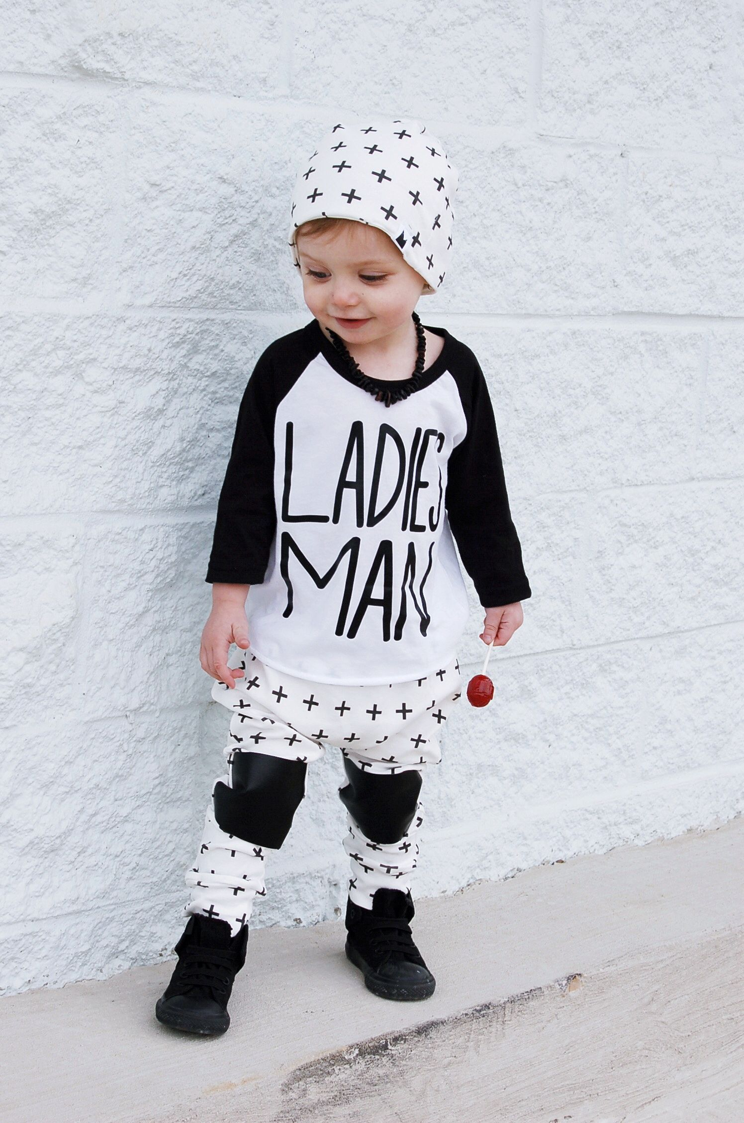 Baby hipster clothes boy photo
