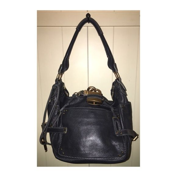 4b60c24829ad Chloe' Paddington Handbag Like•New Chloe' Leather Handbag • Color is a  Black/Gray • Copper Hardware • This bag is in excellent like • new  condition ...