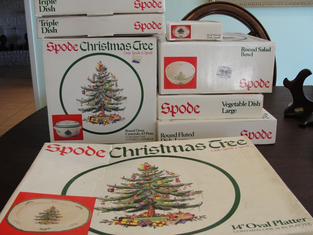 Spode christmas tree 8 service pieces new in boxes in 2018 Fine