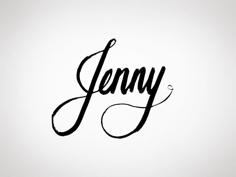 Jenny Name Tattoos Lettering Name Signs