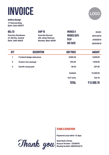 Invoice Template In Neat Free Receipt Template Invoice Template Invoice Design Template