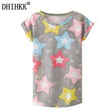 Kawaii DHIHKK 2017 Nuevo Verano Camiseta de La Manera Harajuku Agujero  borla Estilo Estrellas Imprimir Camiseta 13e8946dff7