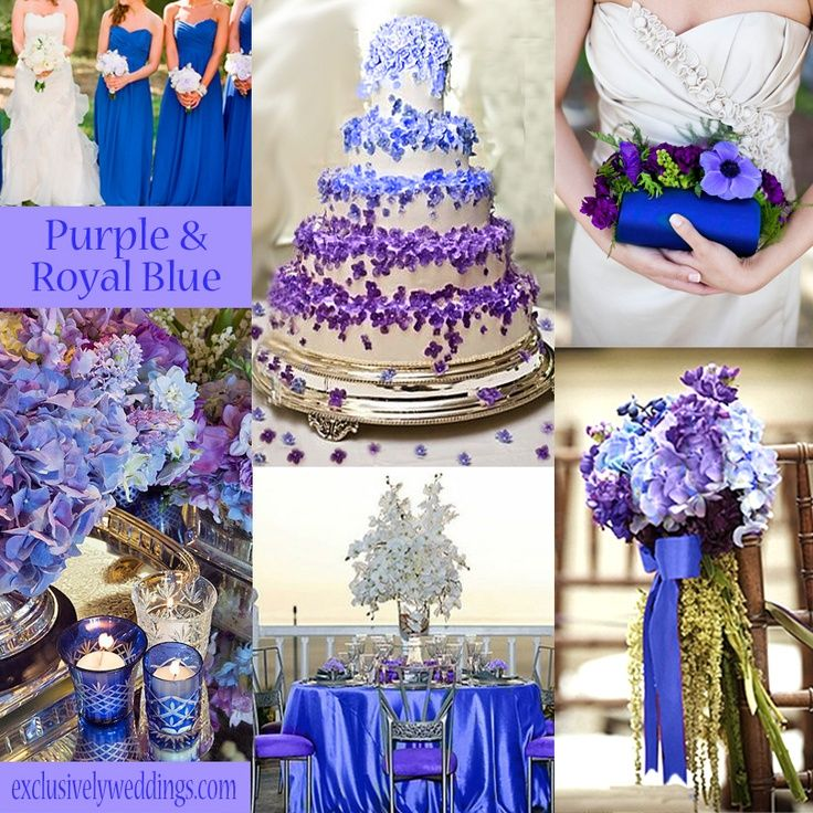 Gorgeous Blue Purple Wedding Royal Purple Wedding Purple