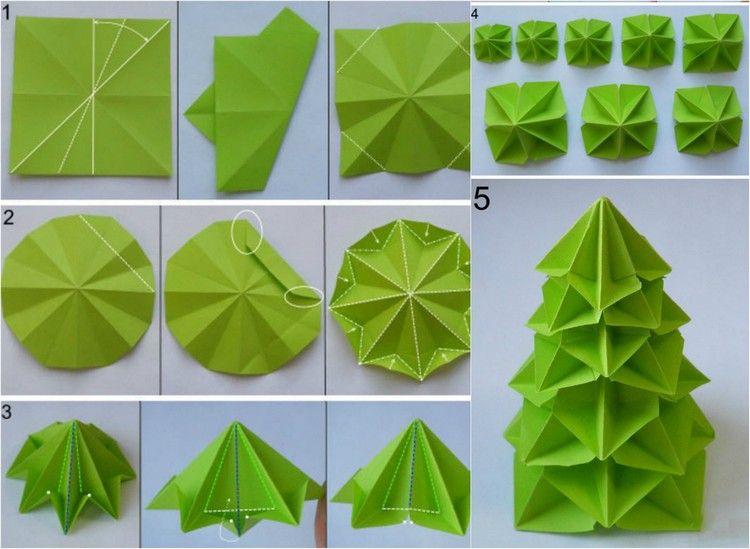 origami weihnachten falten faltanleitung weihnachtsbaum. Black Bedroom Furniture Sets. Home Design Ideas