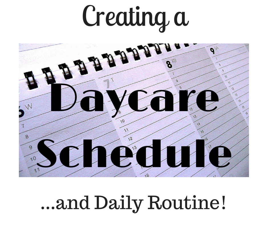 Daycare Schedule And Daily Routine