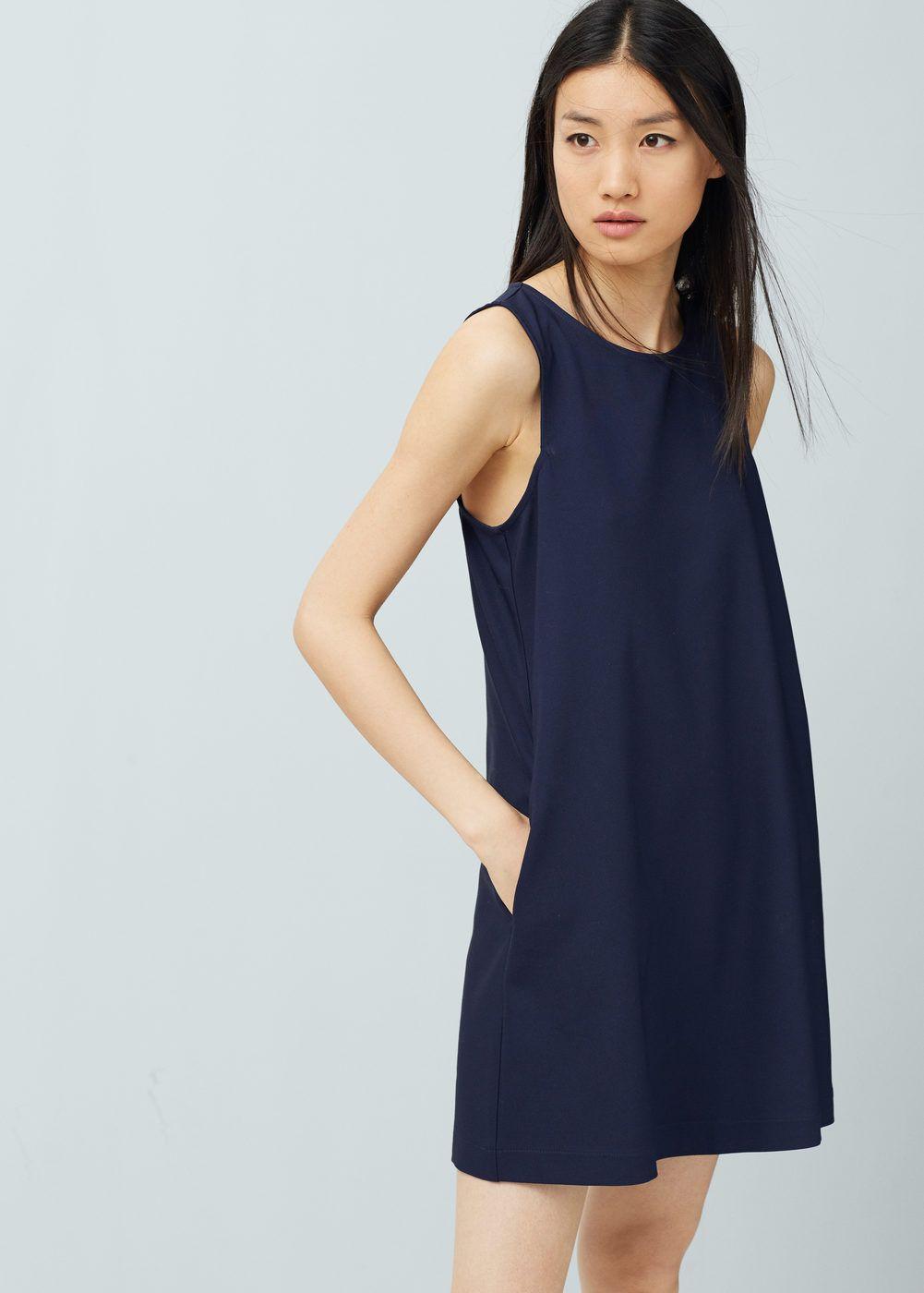 Shift cotton dress - Dresses for Women | MANGO USA