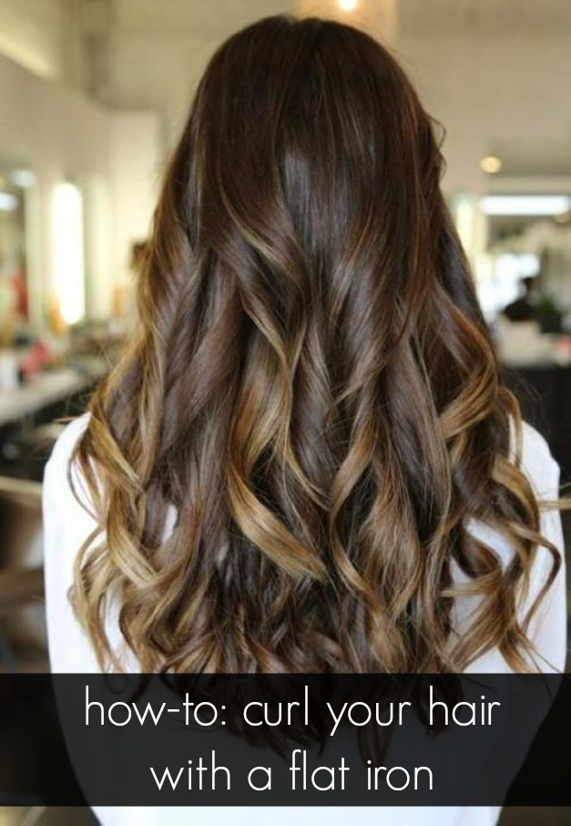 Learn How To Get Tousled Curls With A Straightening Iron