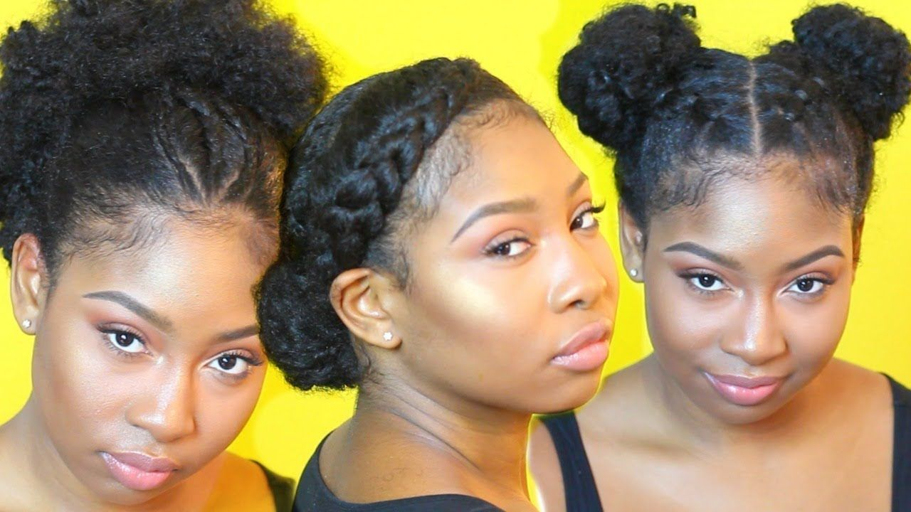 easy hairstyles for old or failed twist out on natural hair video