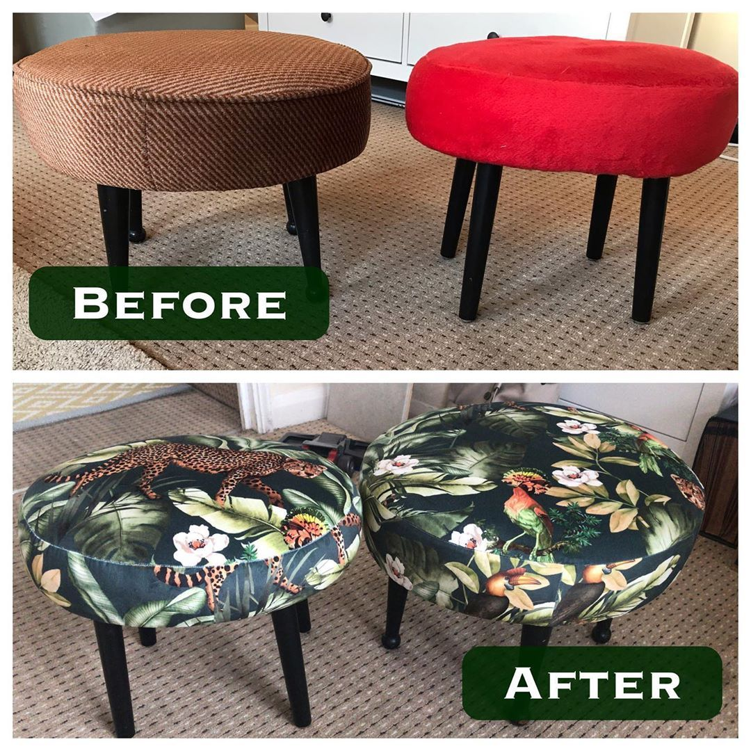 A Little Before And After Of The Fab And Funky Footstools You