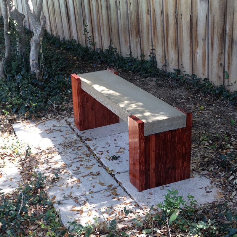 Outdoor Concrete Bench Plans