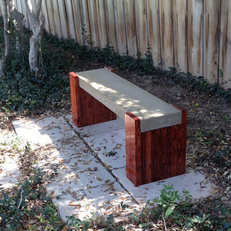Outdoor Concrete Bench Plans Build Garden