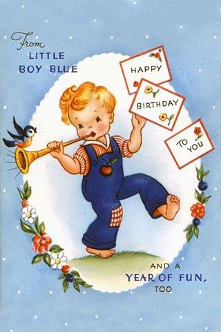 Little Boy Blue Birthday Wishes Pinterest Vintage Cards