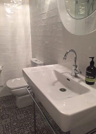 Spanish Handmade Look Subway Bathroom Tiles Recent Project In Sydney From Kalafrana Ceramics Tile Showroom