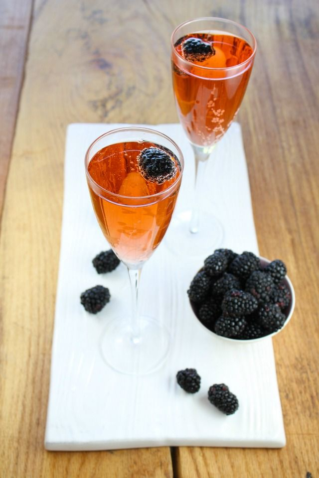 Blackberry Kir Royale Cocktail for #ProgressiveEats from Miss in the ...
