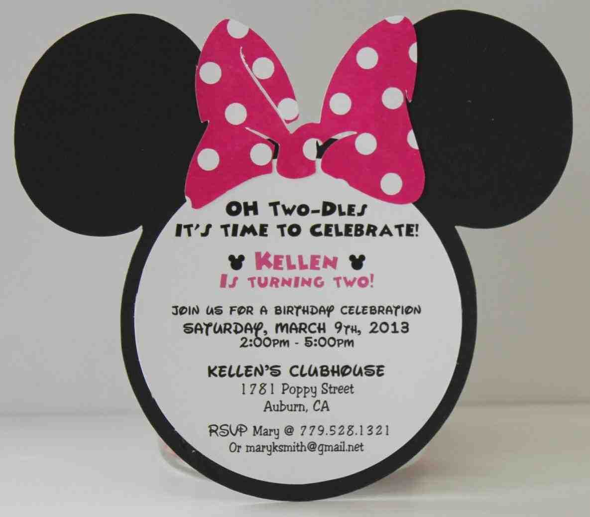 full size of template:minnie mouse birthday invitations free ...