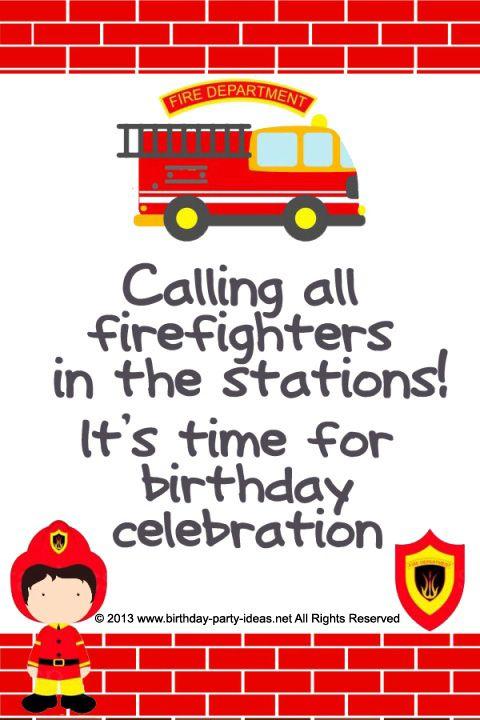 Pin By Janine Hyman On Birthdays Party Fireman Birthday Fire Man Birthday Party Fireman Party