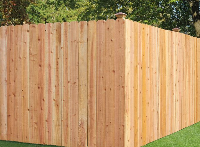 6 X 8 Treated Privacy Fence Panel Wood Privacy Fence Dog Ear
