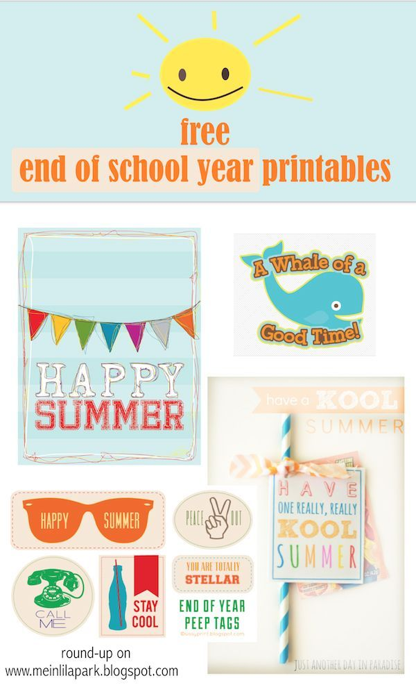Free printable happy summer gift tags end of school year round free printable happy summer gift tags end of school year round up negle Gallery