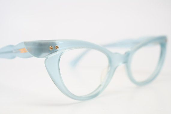 b031955c852 Baby blue cat eye glasses vintage cateye eyeglasses frames on Etsy