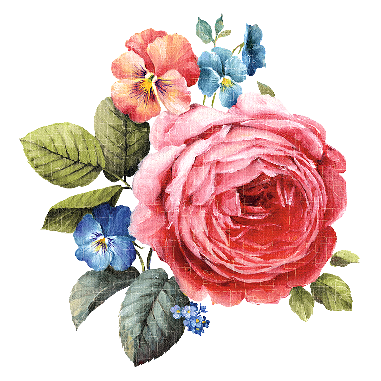 decoupage flower, flower painting, flower painting png, flower ...