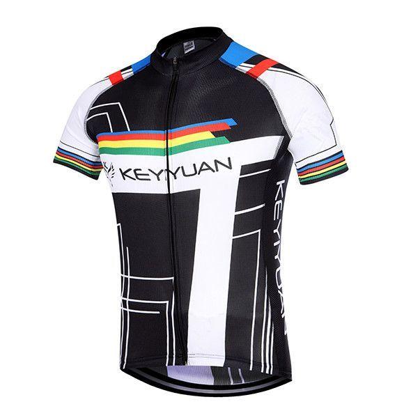 KEYIYUAN CYCLING Men s Bike Team Short Sleeve Cycling Jersey  Sz S-5XL  d0dbe581c