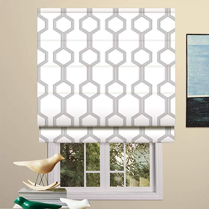 Amazon Com Artdix Roman Shades Blackout Window Shades Hexagon