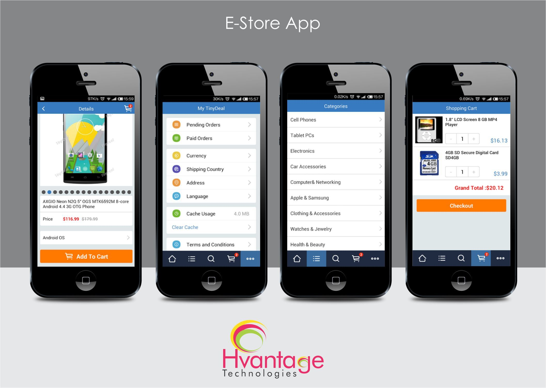 Online shopping app comprises wide array of products