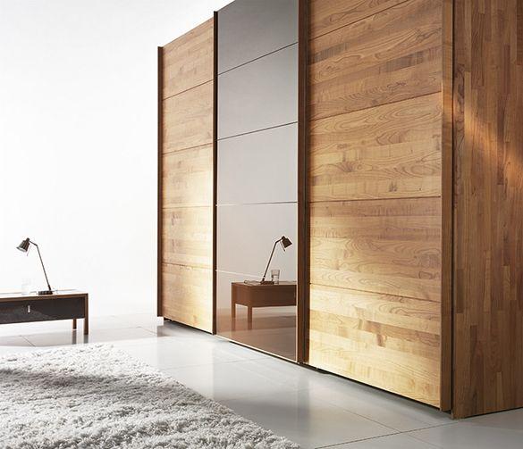 Fume Mirror Wardrobe Bedroom With Sliding Doors Modern Anazhthsh