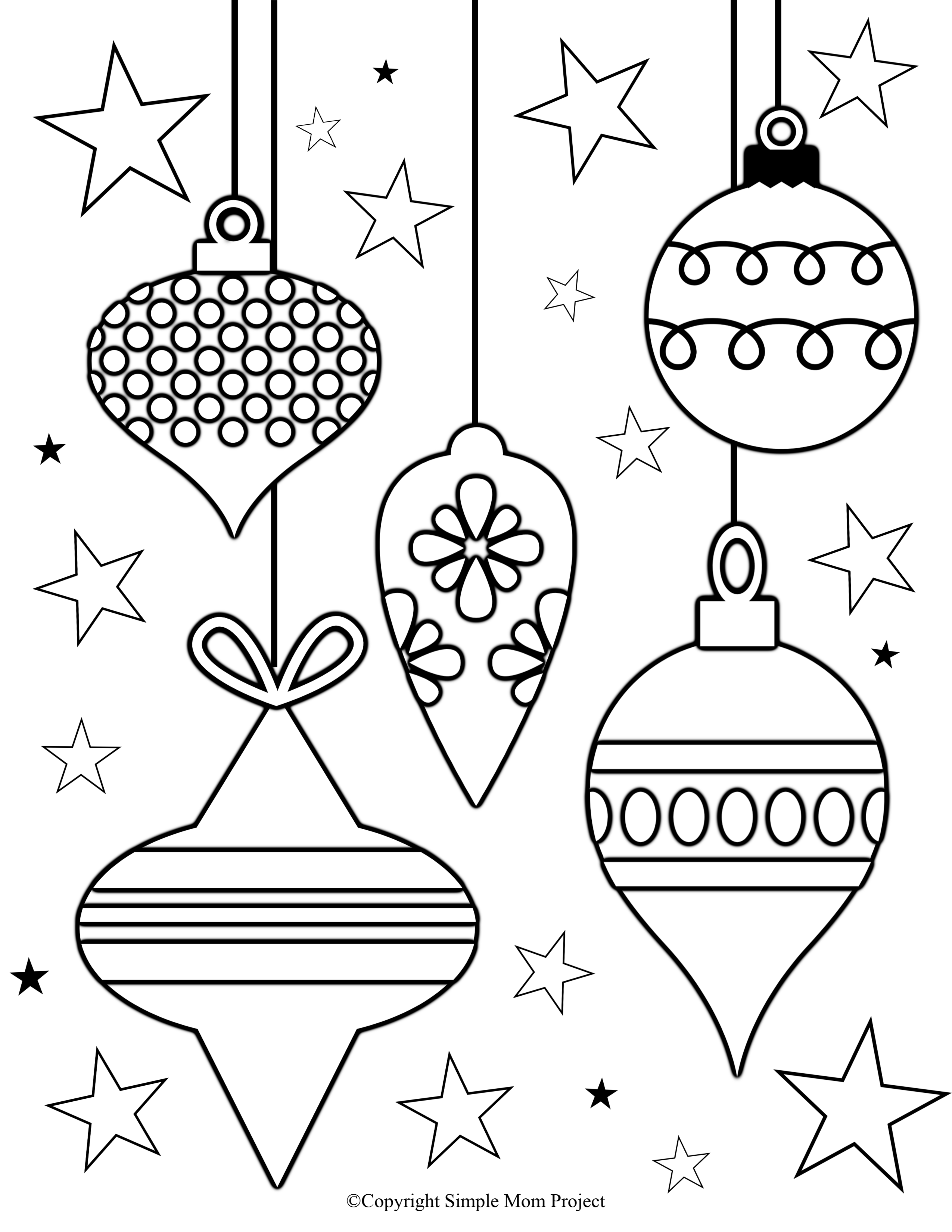 Click now to print these cute, FREE Christmas coloring