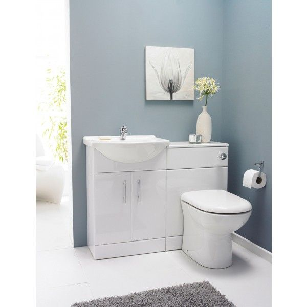Premier Saturn Combination Furniture Pack 550mm Vanity Unit And 500mm Wc 1 Tap Hole White