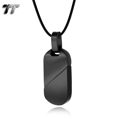 6bbba62b621  16.99 AUD - Tt Black Stainless Steel Dog Tag Pendant Necklace (Np245D)   ebay  Fashion