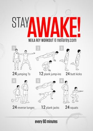 Stay Awake Workout Health Pinterest Workout, Wellness - how to keep yourself awake