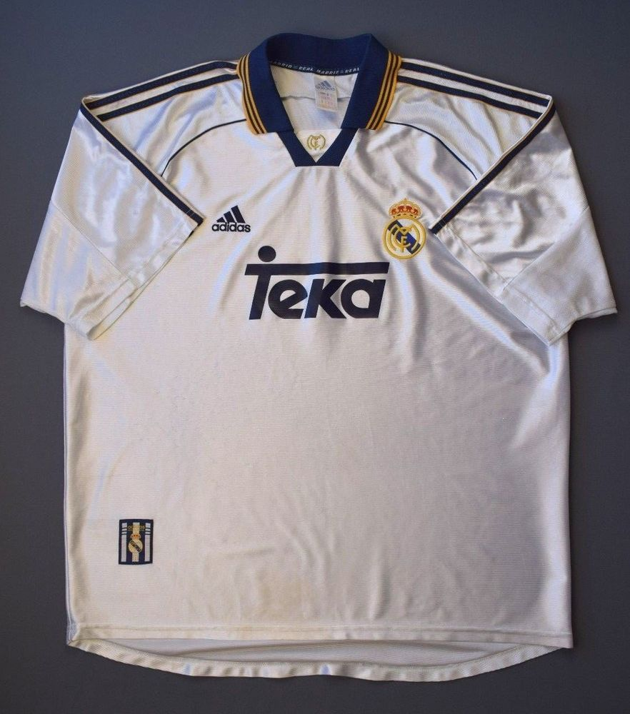 632aa5ce6 4 5 REAL MADRID 1998-2000 FOOTBALL SOCCER HOME SHIRT JERSEY ADIDAS SIZE XL  (eBay Link)