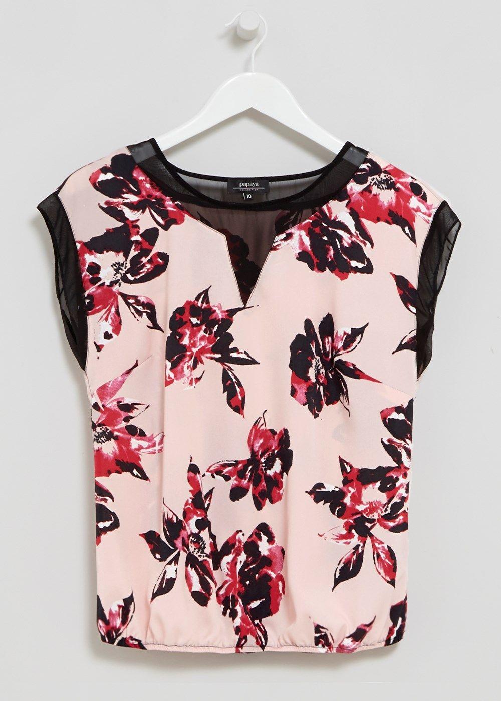 0a0d5526c75 Bubble Hem Blouse - Matalan - £12 | Florals For Autumn | Floral tops ...