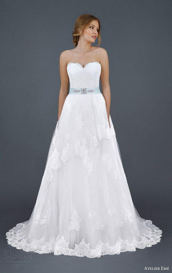 Atelier Eme 2016 Wedding Dresses Strapless Lace