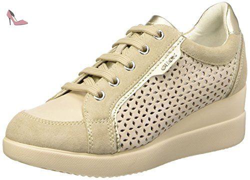 Geox Phyteam B, Sneakers Basses Femme, Gris (White/Lt Grey), 39 EU