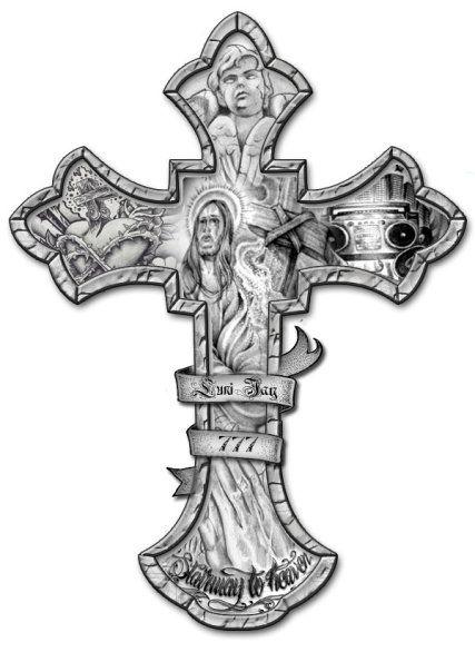 Crucifix Tattoo Drawing Cross Tattoo Design By Lunij88 Cross