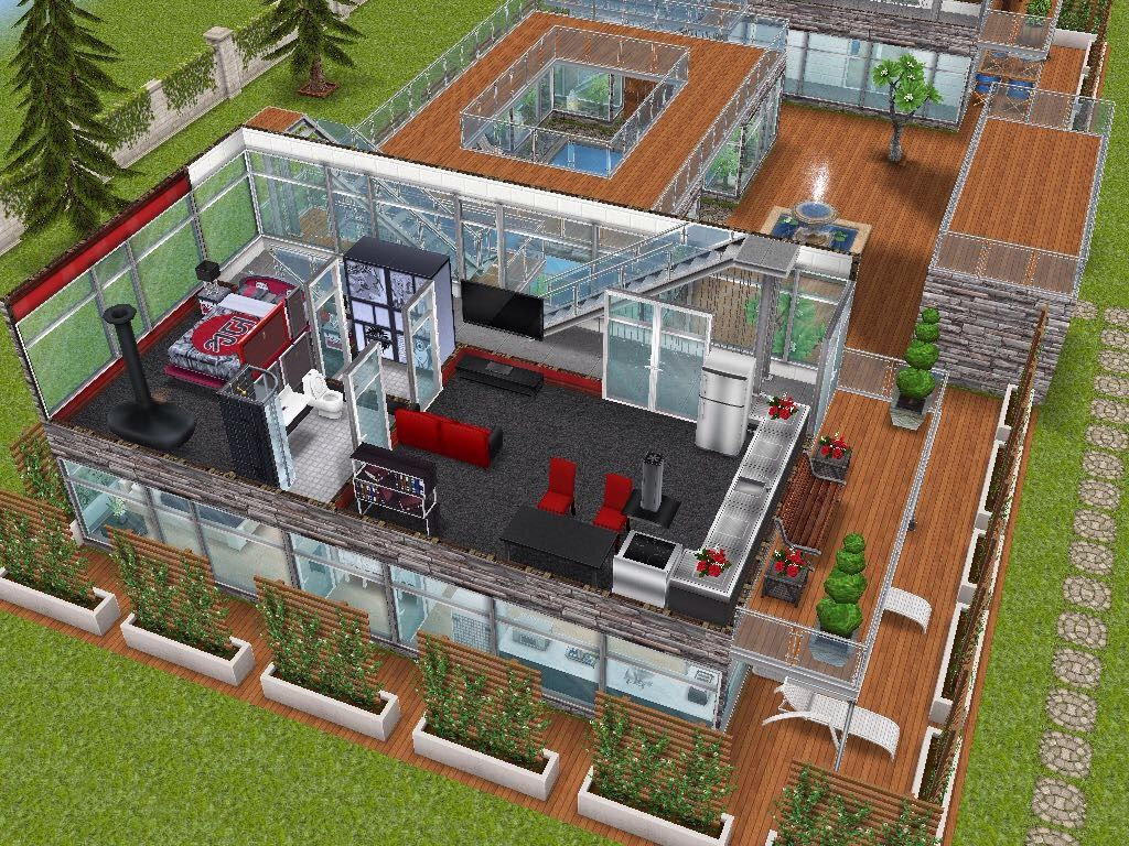House 95 Gated Apartments Level 2 Sims Simsfreeplay Simshousedesign Sims House Sims House Design Sims Free Play