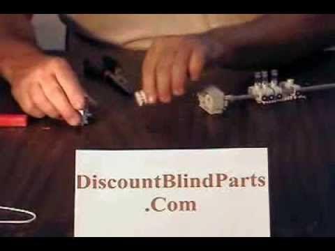 John Sitko Replace Blind Parts Vertical Track Repair Hunter Douglas Levolor Graber Laserlite Hunter Douglas Blinds Blinds Hunter Douglas