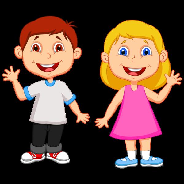 Рисунок детей мальчика и девочки