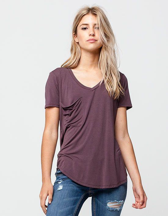 women's v neck tee long sleeve
